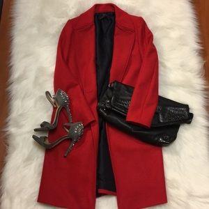 Zara coat:  Exterior is 80% wool